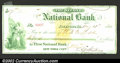Miscellaneous:Checks, 1869 Check from the Second National Bank of Freeport, IL, XF. ...