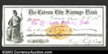 Miscellaneous:Checks, 1877 Check from the Carson City Savings Bank, Carson City, ...