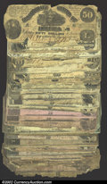 Confederate Notes:Group Lots, A fascinating group of low grade Confederate currency. ...