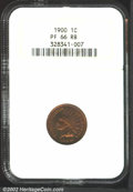 Proof Indian Cents: , 1900 1C PR66 Red and Brown NGC. There is plenty of cherry-...