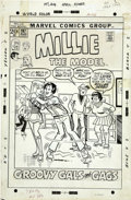 Original Comic Art:Covers, Stan Goldberg - Millie the Model #197 Cover Original Art (Marvel,1972).... (Total: 2 Items)