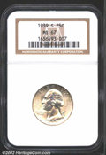 Washington Quarters: , 1939-S 25C MS67 NGC. Bright and fully lustrous, this ...