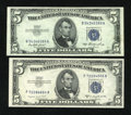 Small Size:Silver Certificates, Fr. 1655 $5 1953 Silver Certificate. Very Choice Crisp Uncirculated; Fr. 1657 $5 1953B Silver Certificate. Very Choice Crisp U... (Total: 2 notes)