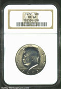 Kennedy Half Dollars: , 1972 50C MS66 NGC. Light, even patina covers both sides ...