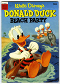 Golden Age (1938-1955):Funny Animal, Dell Giant Comics Donald Duck Beach Party #1 (Dell, 1954)Condition: FN/VF....