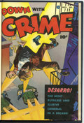 Golden Age (1938-1955):Crime, Down with Crime #1 Bound Volume (Fawcett, 1951)....