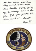 Autographs:U.S. Presidents, Autograph Note Signed by George H. W. Bush as United NationsAmbassador with Apollo 14 Patch. ... (Total: 2 Items)