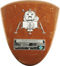 Explorers:Space Exploration, Apollo 12 Lunar Module Intrepid Flown SpacecraftIdentification Plate....