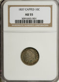 Bust Dimes: , 1837 10C AU55 NGC. NGC Census: (5/92). PCGS Population (14/60).Mintage: 359,500. Numismedia Wsl. Price for NGC/PCGS coin i...