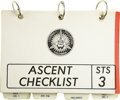 Explorers:Space Exploration, Space Shuttle Columbia (STS-3) Flown Ascent Checklist,...