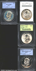 Eisenhower Dollars: , 1972-S $1 Silver MS66 ANACS, light golden-brown and ...