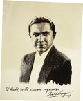 Movie/TV Memorabilia:Autographs and Signed Items, Bela Lugosi Signed Photograph. ...