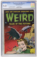 Golden Age (1938-1955):Horror, Weird Tales of the Future #4 (Aragon, 1952) CGC VG 4.0 Cream tooff-white pages....