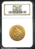 Liberty Eagles: , 1856-S $10 XF40 NGC. Both sides have a few tiny digs, but ...