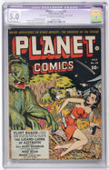 Golden Age (1938-1955):Science Fiction, Planet Comics #25 (Fiction House, 1943) CGC VG/FN Apparent 5.0Moderate (P) Off-white to white pages....