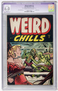 Golden Age (1938-1955):Horror, Weird Chills #3 (Key Publications, 1954) CGC FN Apparent 6.0 Slight(A) Cream to off-white pages....
