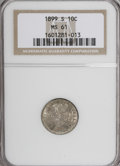 Barber Dimes: , 1899-S 10C MS61 NGC. NGC Census: (8/50). PCGS Population (3/71).Mintage: 1,867,493. Numismedia Wsl. Price for NGC/PCGS coi...