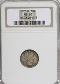 Barber Dimes: , 1909-O 10C MS63 NGC. NGC Census: (19/43). PCGS Population (18/47). Mintage: 2,287,000. Numismedia Wsl. Price for NGC/PCGS c...