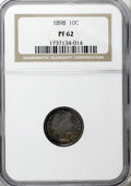 Proof Barber Dimes: , 1898 10C PR62 NGC. NGC Census: (10/178). PCGS Population (17/171).Mintage: 735. Numismedia Wsl. Price for NGC/PCGS coin in...