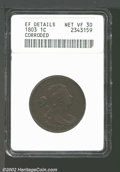 1803 1C Small Date, Small Fraction XF45 Corroded Uncertified. S-256, R.3. Well defined on Liberty's hair, the surfaces a...