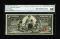 Large Size:Silver Certificates, Fr. 248 $2 1896 Silver Certificate CGA Gem Uncirculated 66. ThisEducational Deuce features enormous margins for the issue, ...