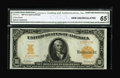 Large Size:Gold Certificates, Fr. 1171 $10 1907 Gold Certificate CGA Gem Uncirculated 65.Beautifully bright with broad even margins all the way around on...