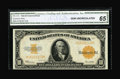 Large Size:Gold Certificates, Fr. 1173 $10 1922 Gold Certificate CGA Gem Uncirculated 65.Beautifully margined with bright colors and lots of eye appeal....