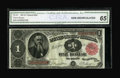 Large Size:Treasury Notes, Fr. 351 $1 1891 Treasury Note CGA Gem Uncirculated 65. Pronounced original embossing is easily seen through the third party ...