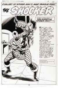 Keith Pollard and Frank Giacoia - The Amazing Spider-Man Annual #13, Shocker Pin-Up page 38 Original Art (Marvel, 1979)...