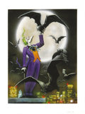 Original Comic Art:Splash Pages, Carl Critchlow - Joker, Batman Master Series Card #72 PaintingOriginal Art (Skybox, 1996)....