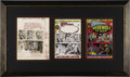 Original Comic Art:Covers, Neal Adams - Marvel Spotlight #2, Werewolf by Night Cover Preliminary Original Art, Color Guide, and Printer's Proof (Marvel, ...