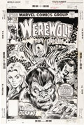 Original Comic Art:Covers, Ed Hannigan (attributed) and Tom Palmer - Werewolf By Night #40Cover Original Art (Marvel, 1976). ...