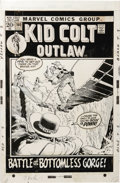 Original Comic Art:Covers, John Severin - Kid Colt Outlaw #160 Cover Original Art (Marvel,1972). ...