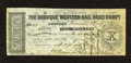 Obsoletes By State:Iowa, Dubuque, IA- Dubuque Western Rail Road Compy. $10 Dec. 8, 1857. ...