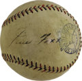 Autographs:Baseballs, 1930's Jimmie Foxx Signed Baseball. Only the most eagle-eyed amongus could spot what PSA/DNA claims to be ink remnants or a...
