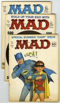 Magazines:Mad, Mad Group (EC, 1962-86) Condition: Average VG.... (Total: 22 Comic Books)