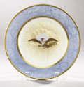 Political:3D & Other Display (pre-1896), James Monroe: Extremely Rare White House China Dinner Plate. ...