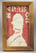 Political:Textile Display (pre-1896), William Henry Harrison: Coverlet Square....