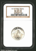 1917 25C Type Two MS67 Full Head NGC. This is a simply beautiful coin with flowing mint frost over virtually blemish-fre...