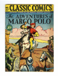 Golden Age (1938-1955):Classics Illustrated, Classic Comics #27 The Adventures of Marco Polo - Original Edition(Gilberton, 1946) Condition: FN+....