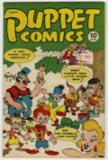 Golden Age (1938-1955):Funny Animal, Puppet Comics #1 Library of Congress File Copy (George W.Dougherty, 1946) Condition: VF-....