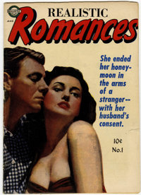Realistic Romances #1 (Realistic Comics, 1951) Condition: VG/FN