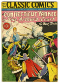 Golden Age (1938-1955):Classics Illustrated, Classic Comics #24 A Connecticut Yankee in King Arthur's Court -Original Edition (Gilberton, 1945) Condition: VG-....