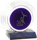 "Movie/TV Memorabilia:Awards, Buddy Ebsen's Dance Peninsula Award. Ornate glass award with marble base presented to Ebsen ""In Honor of Your Lifetime Contr... (Total: 1 Item)"