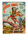 Golden Age (1938-1955):Classics Illustrated, Classic Comics #4 The Last of the Mohicans - Original Edition (Gilberton, 1942) Condition: FN....