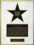Movie/TV Memorabilia:Awards, Buddy Ebsen's St. Louis Walk of Fame Award. A smaller personaldisplay version of Ebsen's star on the St. Louis Walk of Fame...(Total: 1 Item)