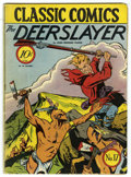 Golden Age (1938-1955):Classics Illustrated, Classic Comics #17 The Deerslayer - Original Edition (Gilberton,1944) Condition: VG....