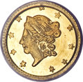 California Fractional Gold, 1869 50C Liberty Round 50 Cents, BG-1009, R.5, MS66 PCGS....