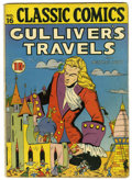 Golden Age (1938-1955):Classics Illustrated, Classic Comics #16 Gulliver's Travels - Original Edition(Gilberton, 1943) Condition: VG....