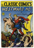 Golden Age (1938-1955):Classics Illustrated, Classic Comics #14 Westward Ho! - Original Edition (Gilberton,1943) Condition: VG....